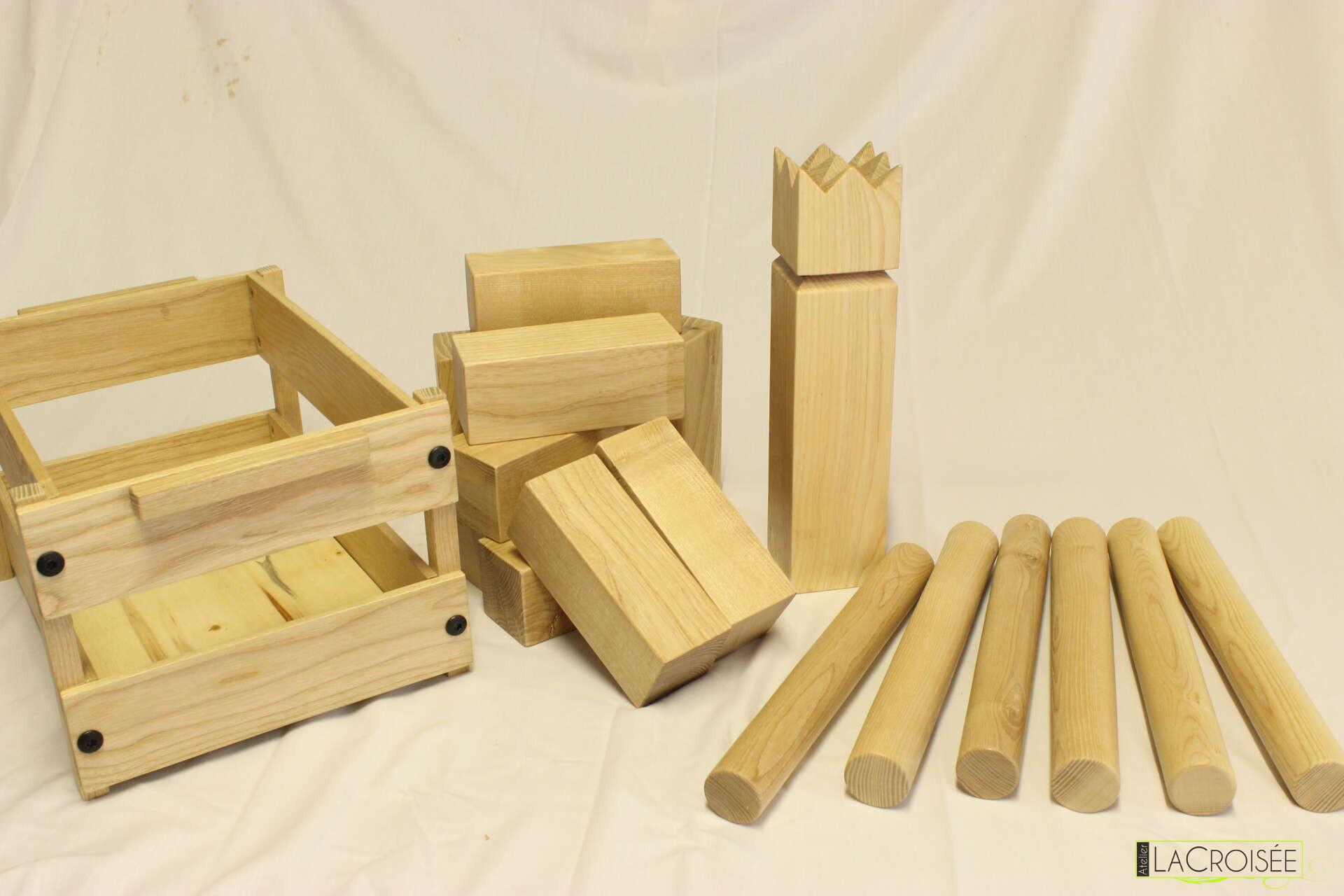 Fabriquer Une Applique En Bois fabrication d'un jeu en bois – kubb artisanal (en frêne