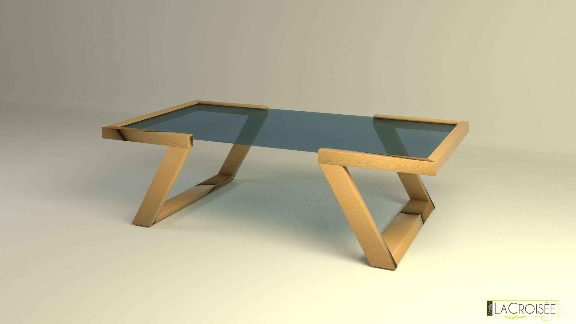 Modélisation Blender table basse