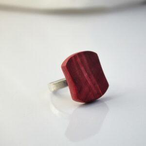 bague-anneau-en-argent-925-en-bois-loupe-de-marronnier-rouge