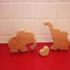 Jouet pour enfant en bois en forme d'éléphant