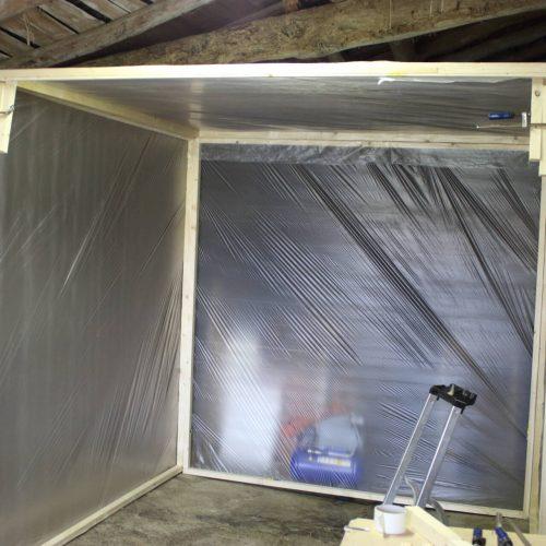 cabine de peinture éphémère